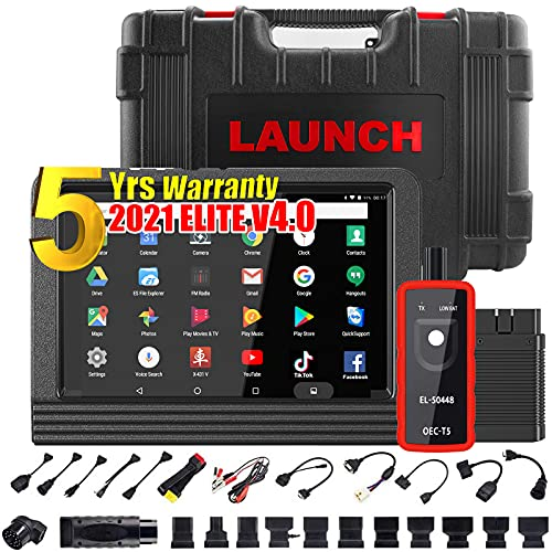LAUNCH X431 V PRO 4.0 2021 Upgraded Model Bi-Directional Scan Tool Full System Scanner,31+ Relearn Reset Service,Key Program,Coding, Active Test,AutoAuth FCA SGW,Full Connector Kits,Free Update
