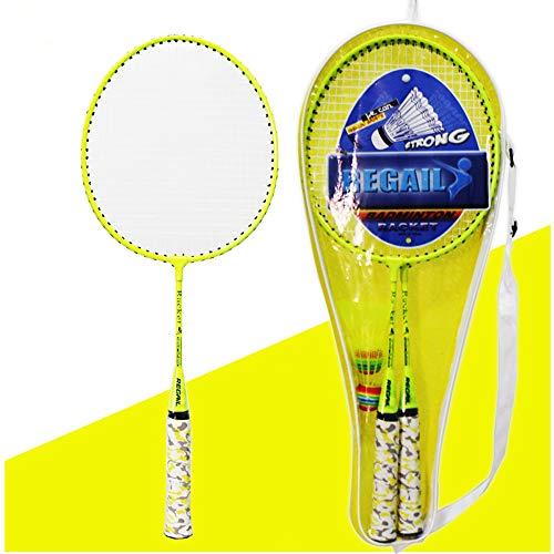 Maryaz Badminton Tennis Rackets Balls Set Kids Outdoor Ouder-Kind Sport Educatieve Sport Spel Speelgoed voor Kinderen Juniors Volwassen Training Praktijk, 2 Spelers