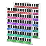 wall acrylic nail polish rack - NIUBEE 2Pack Acrylic Nail Polish Rack Wall Mounted Organizer Holds 120 Bottles, 6-Slot Clear Nail Polish Holder Display Shelf Storage