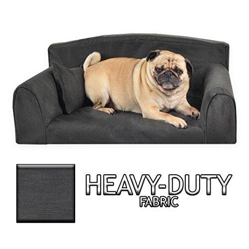 Heavy Duty Black Sofa. Pet Bed, 3 Sizes, Strong Dog Bed (Large 96cm x 64cm x 34cm) Black