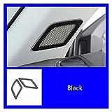 furong Estilismo de automóviles Un Pilar Audio Cuadro de Cuadro Decorativo Trit Ajuste de Acero Inoxidable para Audi Q3 2019 Accesorios Interiores (Color Name : Black)