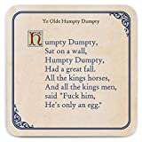 Brainbox Candy - Funny Rude 'Humpty Dumpty Coaster' - Small Gift Ideas For Him Her - Friends Birthday - Housewarming Present - New Home Gift - Funny Gifts For Women Men