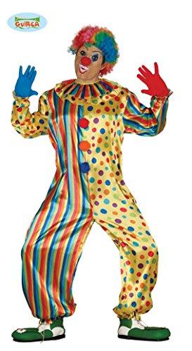 Guirca Costume vestito pagliaccio clown carnevale uomo 88121 XL