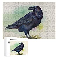 ブラックレイヴン水彩画 300ピースのパズル木製パズル大人の贈り物子供の誕生日プレゼント