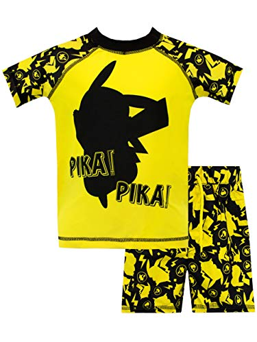 Pokèmon Bañador de Dos Piezas para niño Pikachu Amarillo 4-5 Años