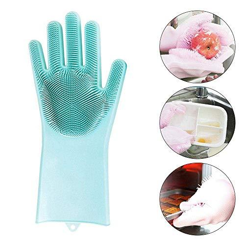 Willlly Magic Siliconen Afwashandschoenen Siliconen Handschoenen Modern Met Washer Hittebestendige Handschoenen Keuken Gadgets Voor Het Schoonmaken Huishoudelijke Afwassen Auto Wassen Dierenverzorging