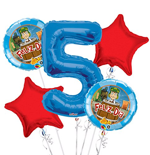 El Chavo Balloon Bouquet 5th Birthday 5 pcs - Party Supplies ST02