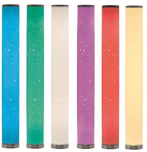 Northpoint LED Stehlampe Lichtsäule Sternenmuster Stehlampe Standleuchte Stehleuchte dimmbar Farbwechsel mit Fernbedienung