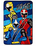 Power Rangers Blanket Oversized Plush 62' x 90' Soft Throw
