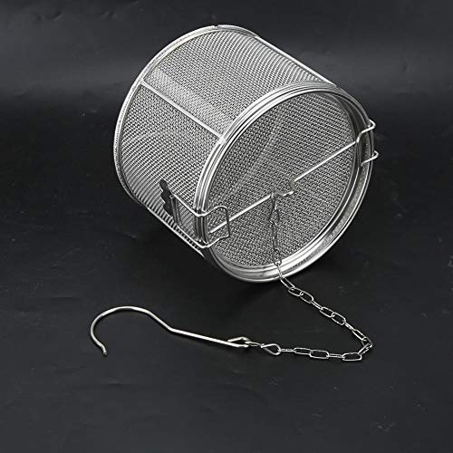 Stainless Steel Tea Ball Spice Herbal Strainer Mesh Seasonings Infuser Filter HG(10 * 10cm)