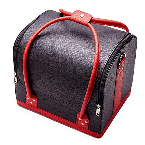 Makeup box Fashion Women Cosmetic Case Makeup Bag Organizer Ladies' Beauty Box Large Multilayer Clapboard Box Portable Pretty Suitcase Vanity case