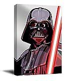 YITUOMO - Stampa su tela di Darth Vader, 40,6 x 61 cm, stampa artistica da parete incorniciata Star Wars Lightsaber Jedi Poster David Prowse, pronta da appendere