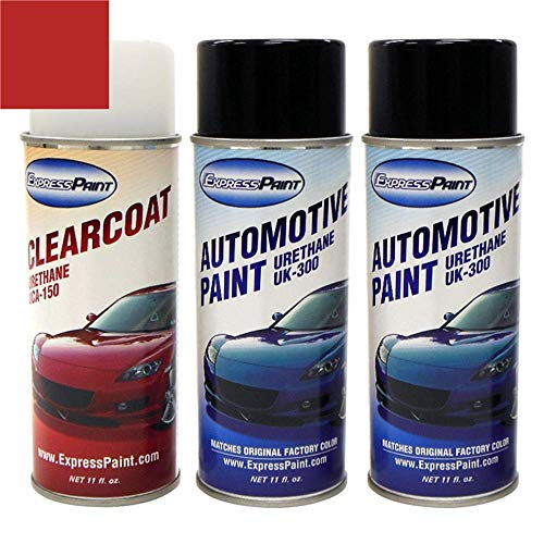ExpressPaint Aerosol - Automotive Touch-up Paint for Ford Mustang - Red Candy Tricoat U6 - Basic Package