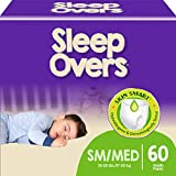 SleepOvers by Cuties, Bedwetting Underwear for Girls and Boys, Small/Medium 38-65 lbs, 60 Count