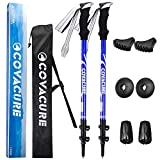 COVACURE Walking Trekking Poles - 2 Pack Adjustable Hiking Sticks With Antishock