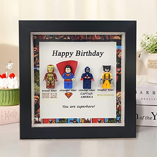 Superheld fotolijst, je bent mijn held minifiguur-cadeau aan de superheld in gedachten, superheld thema fotolijst om…
