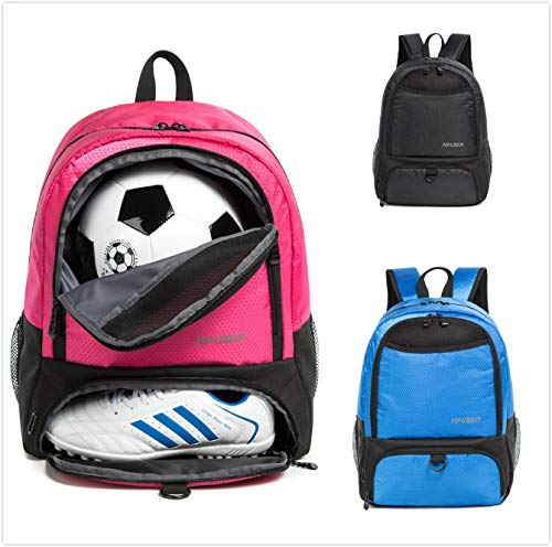 Tindecokin Soccer Bag - Youth Soccer Bags Soccer & Football & Basketball & Volleyball Backpack Training Package