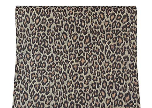 Vinilo autoadhesivo con diseño de leopardo para estanterías de gabinetes, cajones, vestidor, muebles, manualidades, decoración de 17,7 x 117 pulgadas