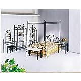 ACME 02084F Sunburst Full Canopy Bed HB/FB, Black Finish
