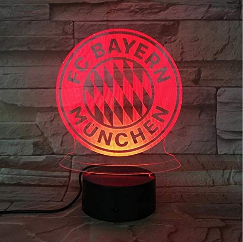 3D Soccer Team Club Logo USB LED Nachtlicht Jungen Kind Kinder Fans Geburtstagsgeschenke Fußball Schreibtischlampe