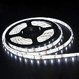 EKSAVE 12V LED Strip Light, SMD 5630 Flexible,Waterproof,16.4ft Tape Light for Home, Kitchen and More,White 6000K(No Power Adapter)