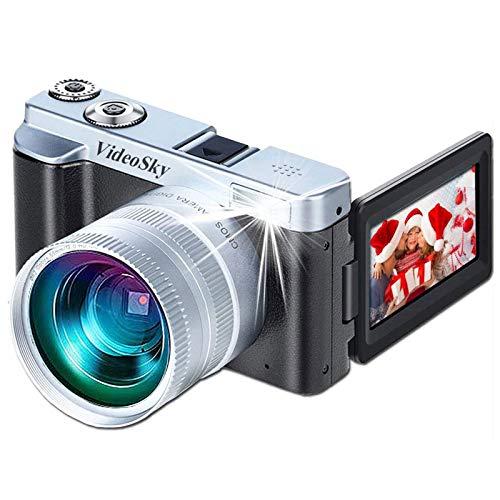 Vlogging Camera Digital Cameras, VideoSky FHD 1080P 24MP 16X Digital Zoom Video Cameras for YouTube...