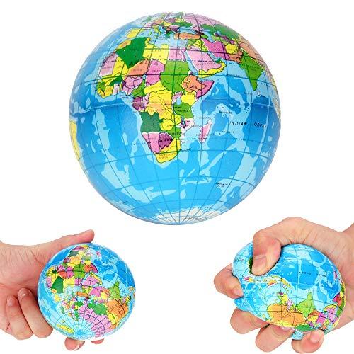 Mapa del Mundo De La Espuma Globo De La Tierra del Alivio De Tensión Bola Animosa De Los Niños Juguete De La Educación