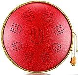 Home Decor Tambores de acero con dedos de acero 14 pulgadas / 36 cm 9 teclas UU Chakra Drum Instrumento de percusión con mazos Bolsa de transporte para meditación Yoga Musicoterapia Zen Fabricado e