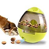 Zellar Treat Dispensing Dog Toy - Dog Treat Ball/Food Dispenser/Interactive Toys/Slow Eating IQ Treat Ball for Small Medium Dogs and Cats (Green)