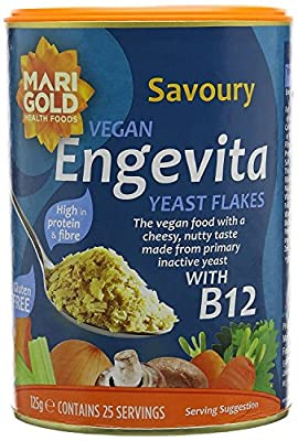 Marigold Engevita Yeast Flakes With Vitamin B12 125g (Pack of 12)