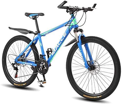 WSJYP Bicicleta de Montaña de 26 Pulgadas para Adultos, Suspensión Completa Bicicleta de Montaña Bicicleta de Montaña, Hombres Mujeres MTB con Freno de Doble Disco, Velocidad 21/24/27,21 Speed-E