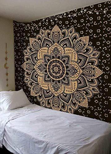 Tapiz de mandala indio para colgar en la pared, manta de alfombra, tienda de campaña, colchón de viaje, tapiz bohemio para dormir