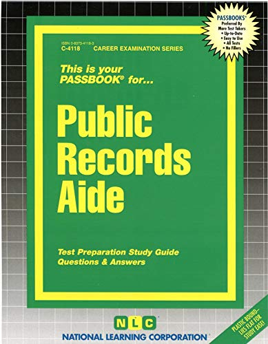 Public Records Aide (Career Examination Series)