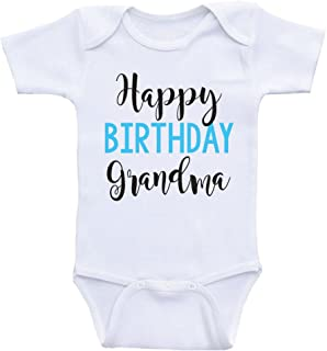 Heart Co Designs Birthday Baby Clothes Happy Birthday Grandma Grandma's Birthday Baby Clothes