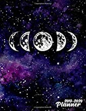 2019-2020 Planner: Pretty Phases of The Moon Galaxy Daily, Weekly and Monthly Planner 2019-2020. Cute 2 Year Organizer, Yearly Schedule and Agenda ... Vision Boards, … . (Nifty Personal Planners)