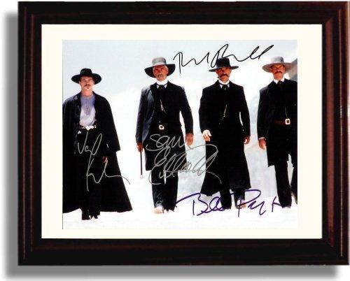 Framed Val Kilmer, Kurt Russell, Bill Paxton and Sam Elliot Autograph Replica Print - Tombstone