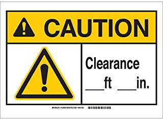 height clearance signs
