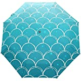 Ozean Meer Meerjungfrau Moire Textur Strand Auto Close Regenschirme Anti UV Folding Compact Automatic Umbrella