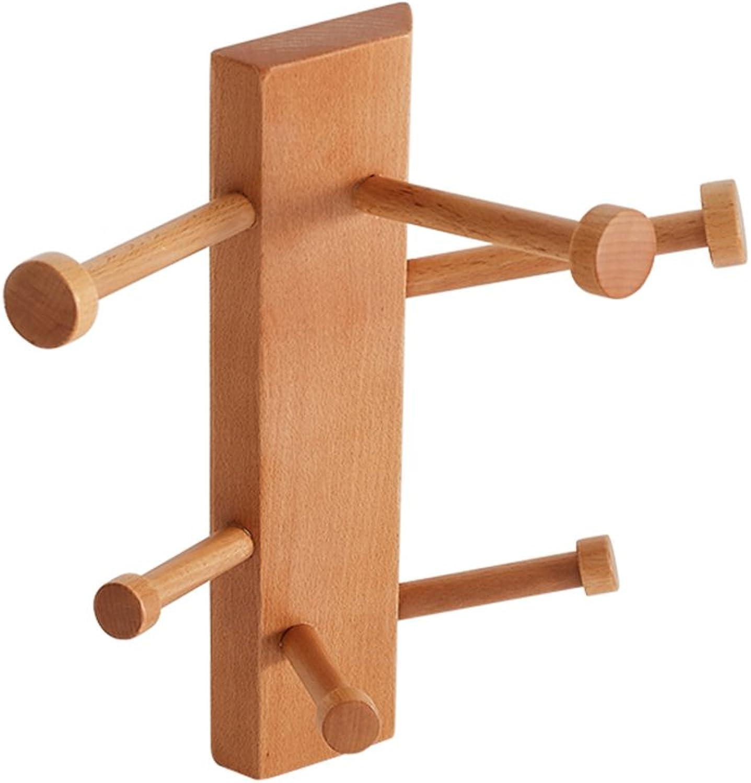 CSQ Wooden Coat Rack, Hanging Creative Living Room Bedroom Dressing Room Hat Rack Wall Hanger Wooden Rack Height 40CM (color   A)