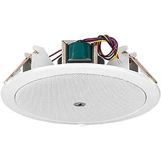 Altoparlante di alta qualità. Linea a 100 V. Montaggio rapido. Ideale per applicazioni interne. Per soffitti dallo spessore di 2-14mm.