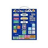 liaobeiotry Calendario meteorológico con pizarra magnética, aprendizaje, educación, juguete para niños, calendario de Navidad para niños, niñas y niños