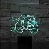 3D Illusion Nachtlicht Bluetooth Smart Control 7 & 16M Farbe Mobile App Led Vision Kleine kleine Hundekinder Hobbys Party Kind schlafen Wohnzimmer Halloween bunt Kreatives Geschenk