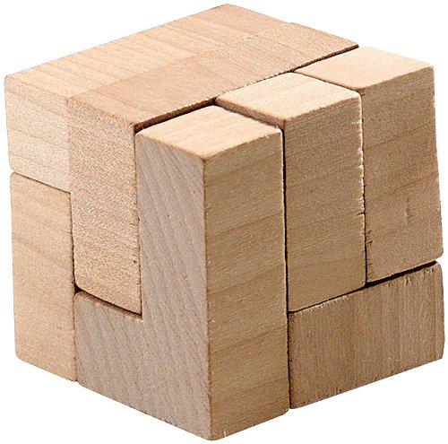 Playtastic Knobelwürfel Holz: Geduldspiel Der Zauberwürfel aus Holz (Zauberwürfel Holz Lösung)