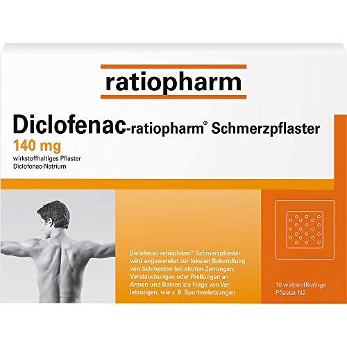 Diclofenac-ratiopharm Schmerzpflaster, 10 St. Pflaster