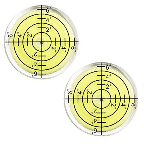 水準器 小型 (丸型) 水平器 メモリ付き 傾斜 測定 アナログ 【Ocello】 (2個)