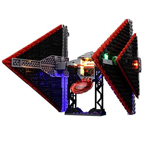 RIYIFER Juego De Luces LED para La Serie Star Wars Sith Tie Fighter,Kit para Niños Y Adultos,Kit De Iluminación Compatible con Lego 75272,Sin Bloques De Construcción