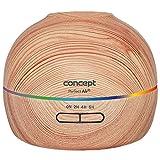 Concept Perfect Air Wood ZV1005 - Humidificador 2 en 1 con difusor de aroma (40 ml/h, para habitaciones de hasta 20 m2, 2 modos de trabajo temporizador de 300 ml (madera clara)