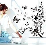 kdjshhs Etiqueta De La Pared Mariposas Decoraciones para Las Etiquetas Engomadas del Hogar Sticke De La Pared De La Cocina Flor De Mariposa Creativas Mariposas Pegatinas De Pared 3D 11.17