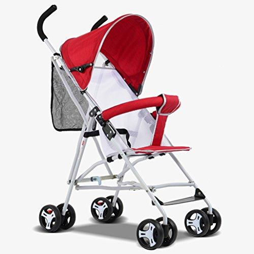 LICHUAN Cochecito de bebé de acero inoxidable súper transpirable, con absorción de...