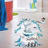 Creative Porche Corridor Salon Chambre 3D Ours Polaire Pingouin Maternelle Fond...